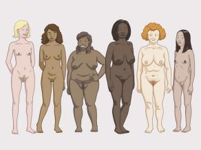 أجسام السيدات المختلفة: يختلف الجسم من امرأة لأخرى.