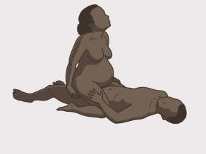 Sexual intercourse during pregnancy example 1: The pregnant woman sits on top of the man.