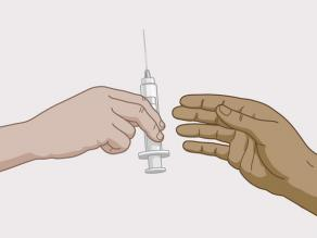 Wijzen van hiv infectie: gebruikt injectiemateriaal delen