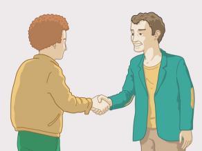Geen hiv infectie: elkaar aanraken of de hand schudden