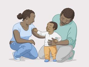 Un cuplu și copilul lor adoptat