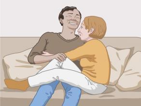 Een man en een vrouw omhelzen elkaar uit vriendschap.