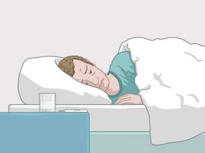 Man lying in bed ill: if you have HIV and you do not take medicines over a long time, you become ill.